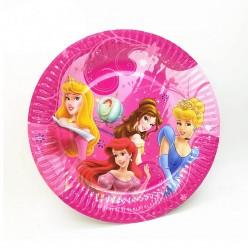 """Тарелки """"Принцессы Диснея"""" 18см  8шт, бумага"""