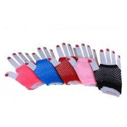 Перчатки Сеточка мини, без пальцев 11*9см (цвета ассорти)