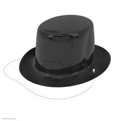Мини Цилиндр чёрный 10,5*5*12см (на резинке)