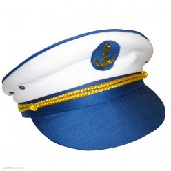 Фуражка Капитана бело-синяя