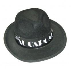 Шляпа Аль Капоне чёрная (фетр)