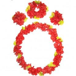 Набор Гавайский (лея, венок на голову, браслеты)