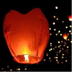 Небесный фонарик Сердце красное, 96*83*36см