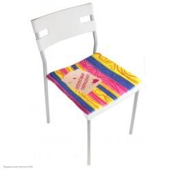 """Сидушка на стул """"Осторожно окрашено"""""""