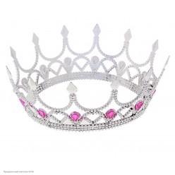 Корона королевская Венец серебряная (пластик)