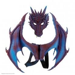 Набор дракона (крылья, маска) фиолетовый