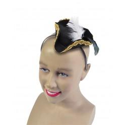 Мини шляпка Треуголка (на ободке)