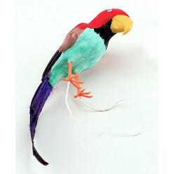 Попугай перьевой на плечо 40*10см