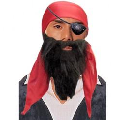 Набор Пирата: бандана, борода, наглазник