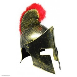 Шлем Спартанца под бронзу, с пухом