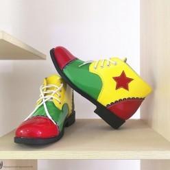 Ботинки Клоуна цветные, кожзам, р.41