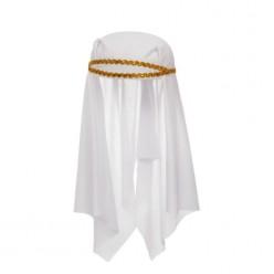 Шапочка Шейха с платком (белая)