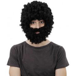 "Парик ""Афро"" с бородой"
