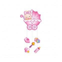 """Подвеска """"Малышка"""" розовая"""