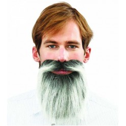 Борода Седая 20*20см (на резинке)