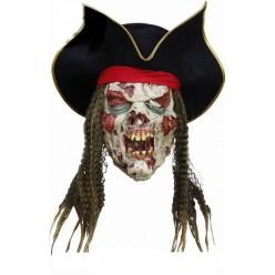 Маска Мёртвый Пират с волосами (латекс)