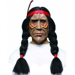Маска Индеец с косами (латекс)