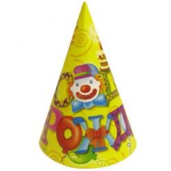 """Колпачок """"С Днём рождения"""" Клоун 16см"""