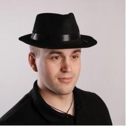 Шляпа Мужская чёрная (пластик флокированный)