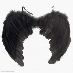 Крылья Ангела чёрные 60*40см (перо)