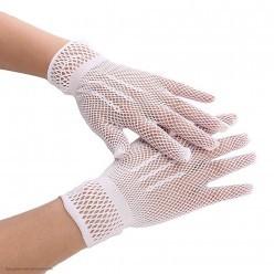 Перчатки Сеточка мини (белые)