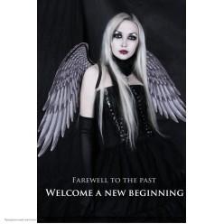 Крылья ангела чёрные, 54*68 см
