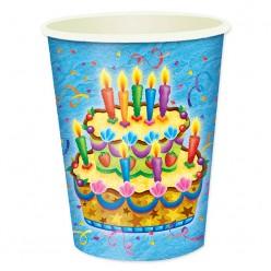 "Стаканы ""Праздничный торт"" 250мл, 6шт/уп, бумага"