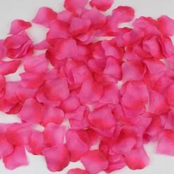 Лепестки роз (150шт) розово-красные