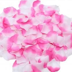 Лепестки роз (150шт) бело-розовые