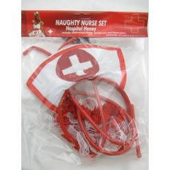 Набор Медсестры (ободок, стетоскоп, подвязка)