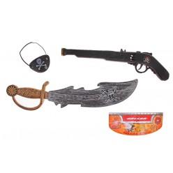 Набор Пирата (мушкет, сабля, наглазник)