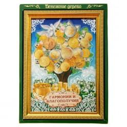 """Рамка Денежное дерево """"Гармонии и благополучия"""" 17*24см"""