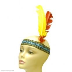 Повязка индейца с перьями
