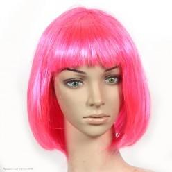 Парик Каре (розовый яркий) 30см