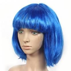 Парик Каре (синий) 30см