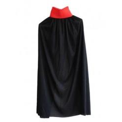 Накидка Трикотажная 90см чёрная, красный воротник