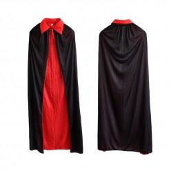 Накидка Трикотажная 2-стороняя 140см (чёрная/красная)