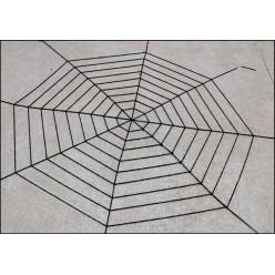Паутина мягкая д=2,7м (9 кругов) чёрная