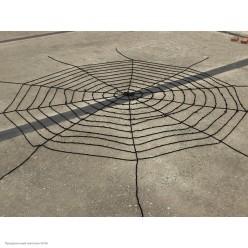 Паутина мягкая 5м (12 кругов) чёрная