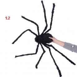 Паук гигант 120см чёрный (тело 18*9см)