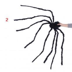 Паук-гигант 200см чёрный (тело 25*12см)