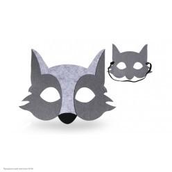 Маска Волк серый (фетр)