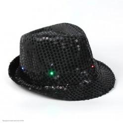 Шляпа Стиляги/Федора светящаяся (пайетки)