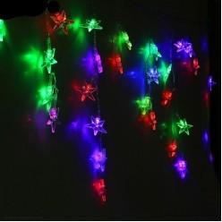 Электрогирлянда LED Дождь 52лампы, 50*300см Звёзды