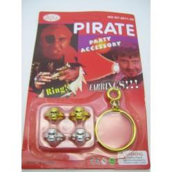 Набор Пирата (серьги 2шт, кольца 4шт)