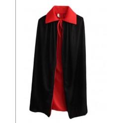 Накидка Трикотажная 2-стороняя 80см (чёрная/красная)