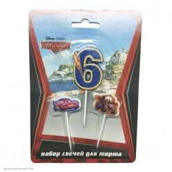 "Свечи для торта Дисней ""Тачки"" цифра 6"