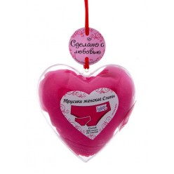 """Трусики женские """"Любить нежно"""" в сердце р.M"""