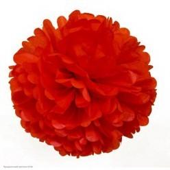 Помпон бумажный 35 см красный