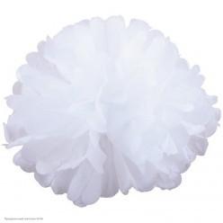 Помпон бумажный 35см белый